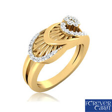 0.27Ct Certified White Natural Rouund Cut Diamond Ring Hallmarked 14kt Gold Ring