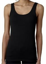 The Jersey Solid Tank Top Women's Junior Fit 3533 Black S-2XL