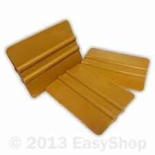 Gold Nylon Vinyl Sign Making Application Squeegee 102mm X 76mm Tool Round Corner