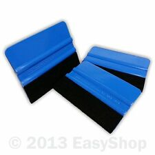 Blue Felt Edge Sign Making Vinyl Wrap Application Squeegee 102mm X 76mm  Rnd Crn