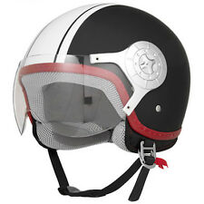 Flat/Matte Black Retro 3/4 Open Face Clear Visor DOT Motorcycle Helmet -S/M/L/XL