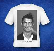 Cristiano Ronaldo T-shirt Life Is A Joke - DTG fake eleven swag - doop - gif
