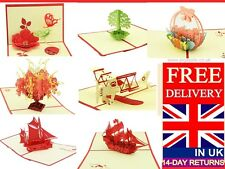 LARGE RANGE OF POP UP CARDS 3 D CARDS FOR ALL OCCASIONS KIRIGAMI CARD