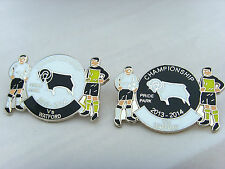 Derby v Watford 2013/14 Championship Match Day Badge - Football Badge