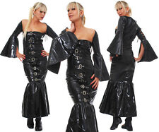 Patent Dress Vinyl Patent Quality Dress Black Pvc Dress Robe De Soirée Gothic
