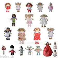 Powell Craft Childrens Rag Dolls Soft Toys Baby Rattles £2.95 Flat Rate P&P UK