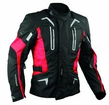 Motorbike Motorcycle CE Armours Warterproof Textile Jacket Thermal Layer Red