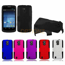 For ZTE Force N9100 APEX Mesh Net Hybrid Skin Silicone Case Cover Accessory