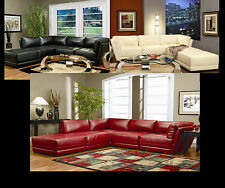 Black White Red Kayson Contemporary Sectional Couch 5 Pc Set Chaise