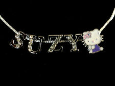 Personalized Hello Kitty Charm Necklace/Choker 1/2 Rhinestone Slide Letters