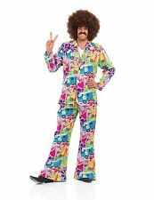 ADULT MENS PSYCHEDELIC SUIT COSTUME 1970-s DISCO FANCY DRESS OUTFIT