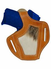 New Barsony Hair on Hide Tan Leather Pancake Holster Bersa Star 380 Small 9mm 40