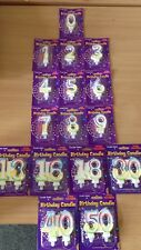 Age Number Candles Birthday Party Cake Decorations Boy Girl Accessories