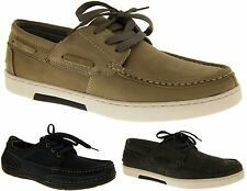 Mens LEATHER HELMSMAN Deck Shoes Casual Trainers Formal Moccasins Flat Boat Shoe