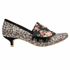 NEW IRREGULAR CHOICE *FLICK FLACK* FLORAL FOLD OVER LOW KITTEN HEELS-Size 5-6-7-