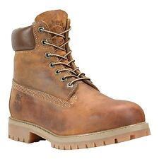 Men's Timberland Heritage Classic Premium Boot Tan Burnt Orange Worn Oiled 27094