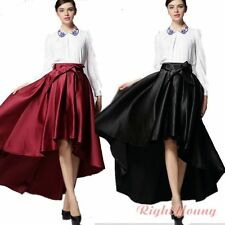 Noble Womens Ball Gown Cocktail Flare Full Skirt Hi-low Long Maxi Pleated Skater