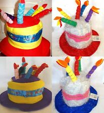 Happy Birthday Cake Hat With Candles 18th/21st/30th/40th/50th/60th birthday