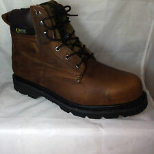 MEN brown desert boots WATER resistant SAFETY STEEL TOE and midsole  welted sole