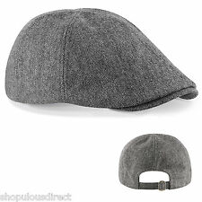 Ivy Grey Flat Cap Unisex Lined Wool Gatsby Newsboy Golf Driver Smart Cabbie Hat