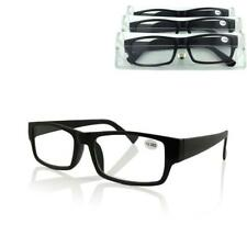 Reading Glasses Unisex Mens Ladies Trendy Designer 1.5 2.0 2.5 3.0  Black Frame