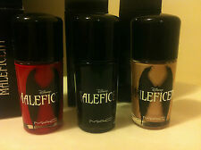 MAC Maleficent Nail Polish Flaming Rose Nocturnelle Uninvited Authentic & NIB