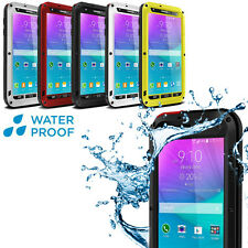 Shock Waterproof Aluminum Gorilla Glass Case for Samsung Galaxy Note 2 S3  S4 S5
