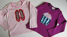 EX-MINI BODEN GIRLS CUTE SEQUIN TOP BALLET PUMPS / CUPCAKE  BNWOT AGES 3-14