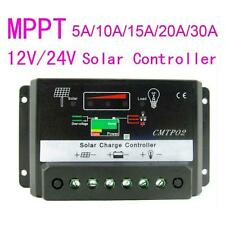 5/10A/15/20/30A MPPT Solar Panel Regulator Charge Controller 12V/24V Auto Switch