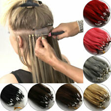 """16""""18""""20""""22""""24""""26""""Easy Loop Micro Ring Beads Tipped Remy Human Hair Extensions"""