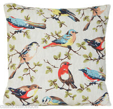 Cath Kidston Cushion Cover Floral Pillow Case Blue Bird Pink Yellow Green Stripe