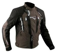 Biker Motorcycle 100% Waterproof CE Armours Textile Thermal Jacket Brown