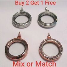 Wholesale Floating Charm Magnetic Large Living Lockets - Choose Silver,Rose Gold