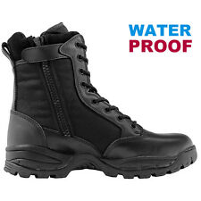 Maelstrom® TAC FORCE 8'' Black Waterproof Tactical Duty Work Boots with Zipper