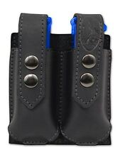 NEW Barsony Black Leather Double Magazine Pouch Smith & Wesson Compact 9mm 40 45