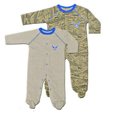 Trooper Clothing Infant Baby Boy ABU Air Force One Pieces 2 Pc Set Grey