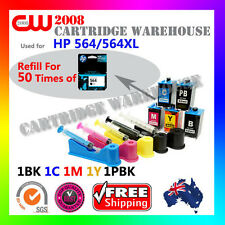 DIY Ink Refill 50 Times for HP 564/564XL GENUINE cartridges/5 x HP 564 ink