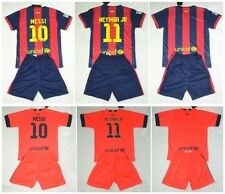 2014-2015 FCB  kit  shirt and short 3-14 years print MESSI NEYMAR or own name
