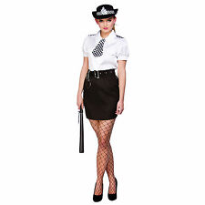 Ladies Police Law Officer Constable Cutie Halloween Fancy Dress Costume New