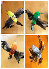 4 pic plastic-Color solar power  Flying HUMMINGBIRD feather free shipping