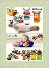 1 pc Baby Infant Developmental Soft Toy Wrist Rattles Foots finders Sozzy&Lamaze