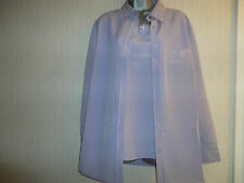 BNWT Ladies Two Piece Lilac Blouse & Vest Top By Kaleidoscope RRP £45