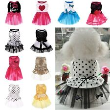 Cute Pet Dog Tutu Dress Lace Skirt Cat Princess Clothes Party Dress 10 Styles