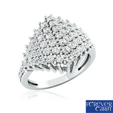 0.96 Ct Certified Natural White Diamond Ring 925 Sterling Silver Ring Jewellery
