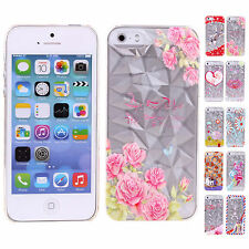 Low Price Various 3D Diamond Texture Hard Back Case Cover JS For iPhone 5/5S JS