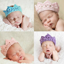 New Infant Baby Girl Boy Toddler Knitted Soft Crown Headband Headwear Hair Band