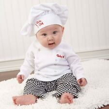 Big Dreamzzz Baby Chef Three Piece Layette in Culinary Themed Gift Box Boy Girl