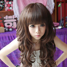New Fashion Cosplay Sexy Womens Girls Lady Wavy Curly Long Hair  Full Wigs
