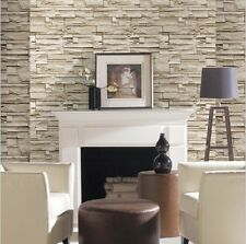 Natural vintage stone look pattern design brick wall wallpaper roll