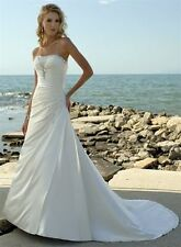 STOCK Sexy White / ivory Wedding Dress Bridesmaids Dresses Size 6-8-10-12-14-16+